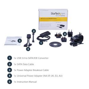 USB 3.0-SATA or IDE Hard Drive Adpt Conv