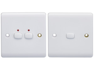 MiHome White 2 Gang Light Switch (2-way)