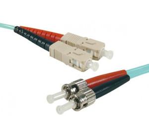 Fiber OM3 50/125 Aqua LSZH SC/ST 0.5m