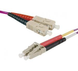 Fiber OM4 50/125 Pink LSZH SC/LC 3m