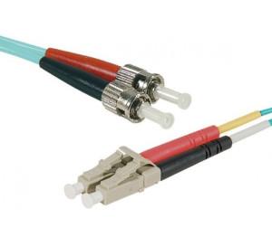 Fiber OM3 50/125 LC/ST Aqua 10 m