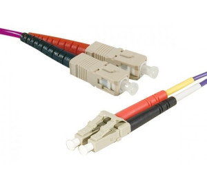 Fiber OM3 50/125 SC/LC Purple 3 m