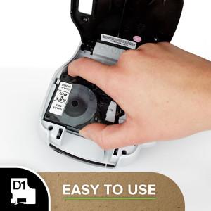 D1 Tape 6mm Black on White