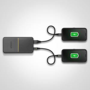Power Bank 10K MAH USB AC 18W USBPD BLK