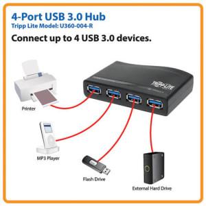 USB 3.0 Hub Super Speed - 4 Port